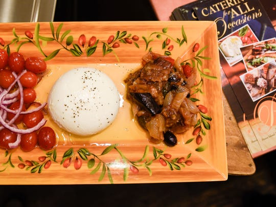 The burrata dish at Patrizia's includes mozzarella,
