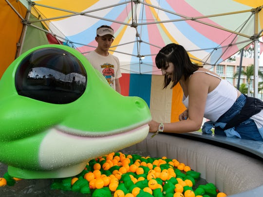 An Adult Swim On The Green event takes place at Bayfront