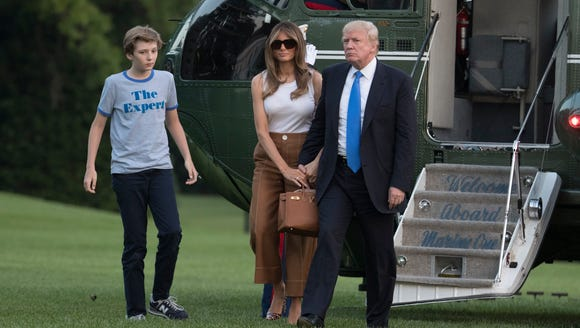 President Donald Trump, first lady Melania Trump, and
