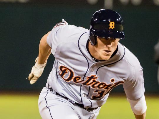 Tigers rightfielder Jim Adduci.