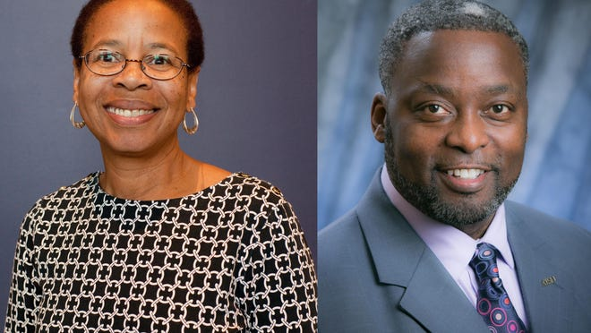 Headshots of Bertha Thomas and Clinton Normore. Provided by Truman State University and A.T. Still University.
