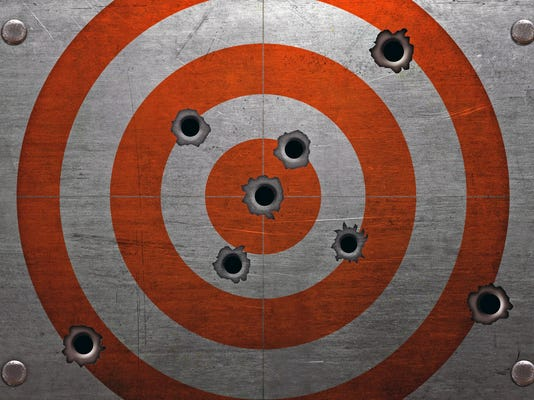 Target with bullet holes