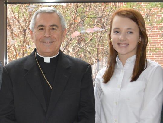 Delone Catholic High School student Kristen Landsman