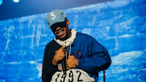 Chicago's Chance the Rapper performs during Austin City Limits Music Festival on Saturday in Austin.