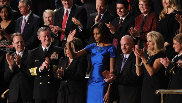 First lady Michelle Obama and guests at the 2012 State