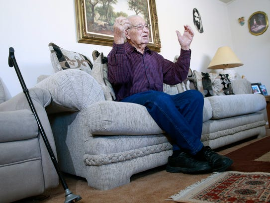 Mel Barela, 91, recalls his experiences serving as