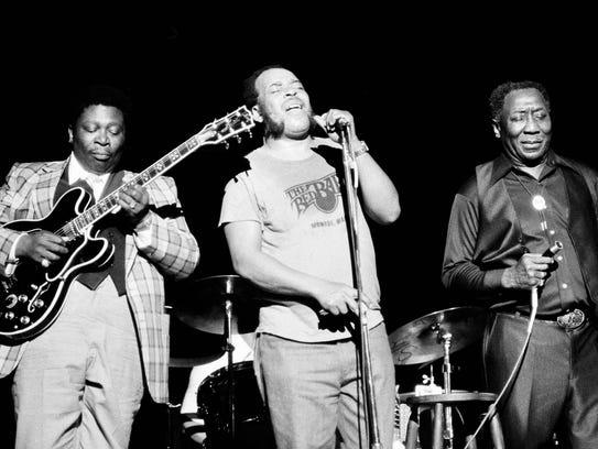June 29, 1979 - Blues musician B.B. King, left, James