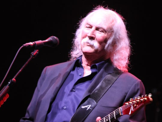 David Crosby performs at the MAC at Monmouth University on July, 6, 2014 in West Long Branch.