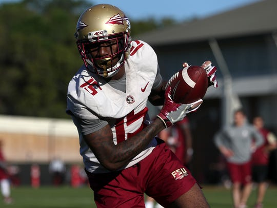 FSU's Tamorrion Terry runs with a pass during spring