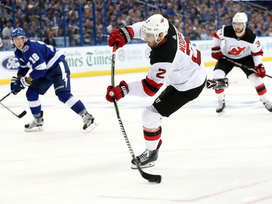 newest 5e360 00a1c NJ Devils' John Moore states his free agency case