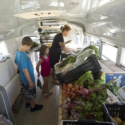 Rick Slager takes the fresh market bus to the Fond du Lac YMCA every Thursday evening.