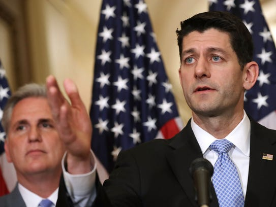 Speaker of the House Paul Ryan (R-WI) holds a news