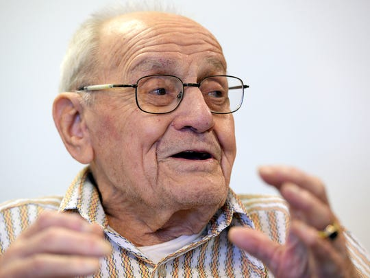 Clarence Pfuhl, 100, talks Oct. 15 about his experience