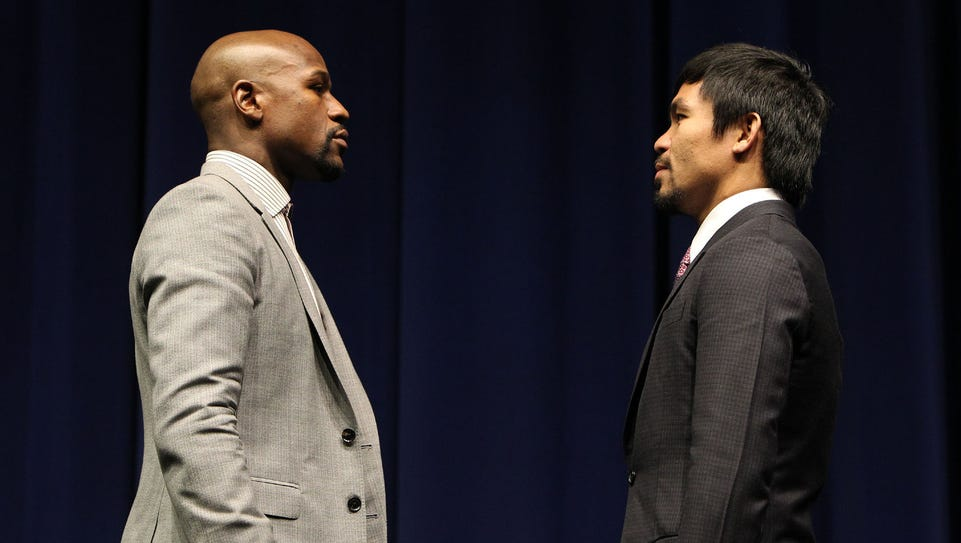 Superstar Manny Pacquiao and Floyd Mayweather attend