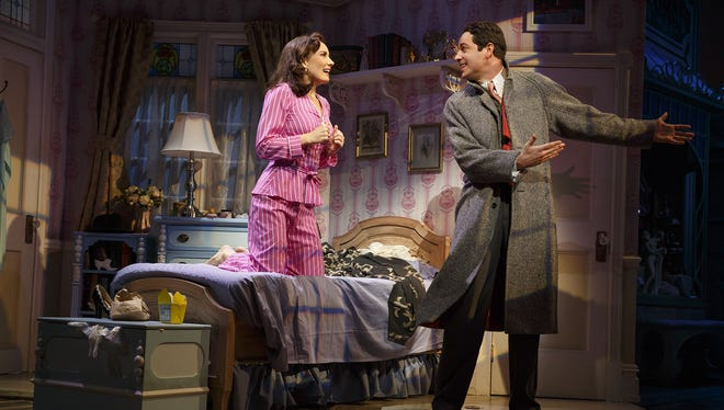 """Laura Benanti and Zachary Levi in a scene from Broadway's """"She Loves Me."""" Levi is hosting the National High School Musical Theatre Awards on Monday.   Scott Ellis (director) David Rockwell (scenic design) Jeff Mahshie (costume design) Donald Holder (lighting design) Jon Weston (sound design) Larry Hochman (orchestrations) David Krane (dance arrangements and incidental music)  Other Credits: Lyrics by: Sheldon Harnick Music by: Jerry Bock Book by Joe Masteroff -"""