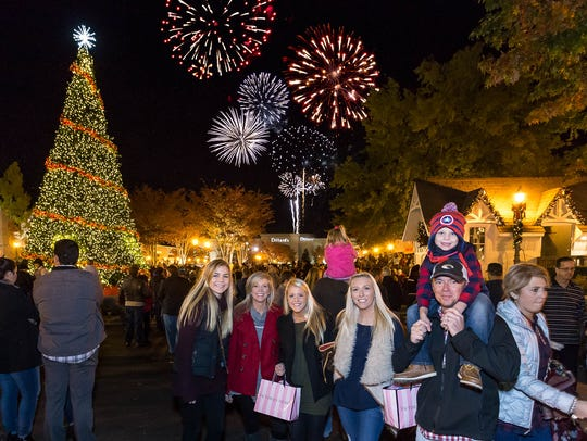 "A crowd of more than 10,000 is expected for a November 17 ""Lights Up"" bash at The Shoppes at EastChase."