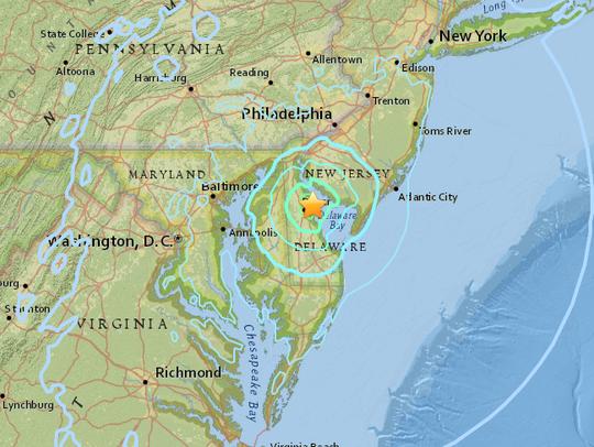 A screenshot of a U.S. Geological Survey map depicting
