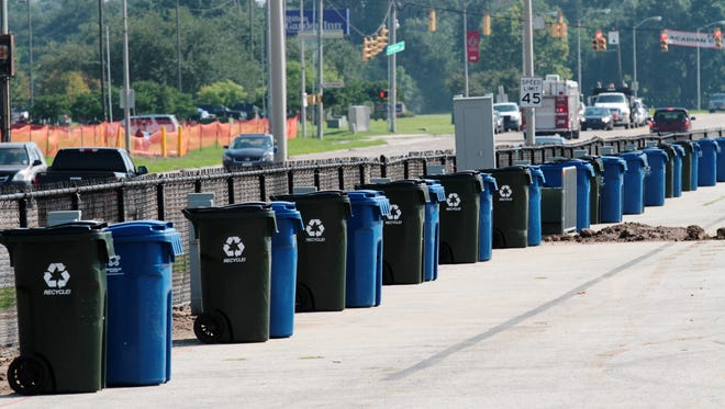 Trash collection schedule for New Year's Day