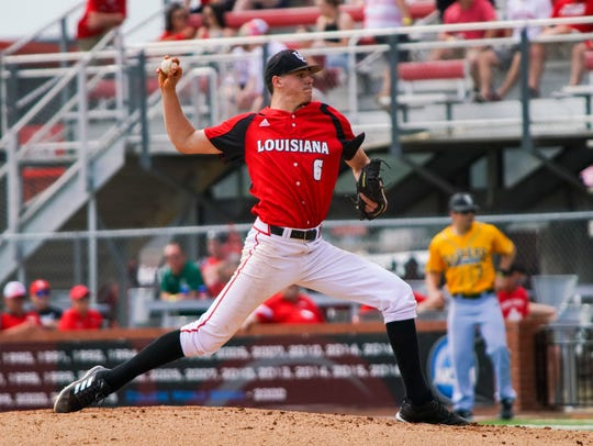 UL's Nick Lee struck out seven over 6 innings in UL's 6-3 win over Wright State on Saturday.