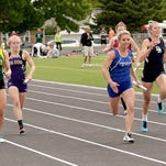 Corvallis wins the 400 relay at the State A track and field meet in Laurel.