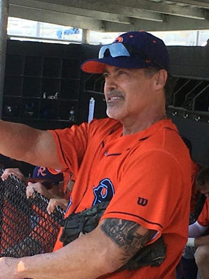 Former MLB star Rafael Palmeiro is playing for the Cleburne Railroaders in Texas.