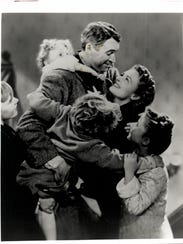 """James Stewart and  Donna Reed star in """"It's a Wonderful"""