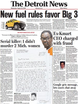 The front page for Wednesday, Aug. 24, 2005.