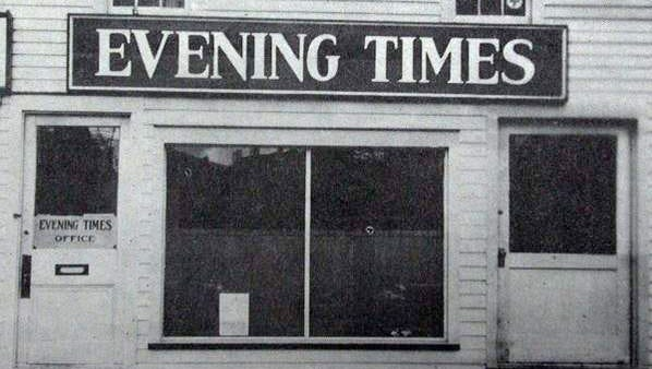 The Evening Times building on Elmer Street in 1927.