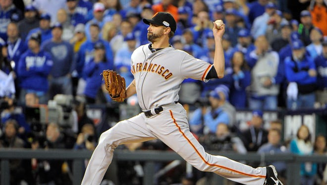 Jeremy Affeldt was in the game when the Giants scored the go-ahead run in the fourth inning.