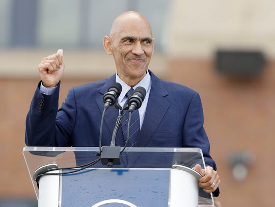 Former Indianapolis Colts head coach Tony Dungy speaks
