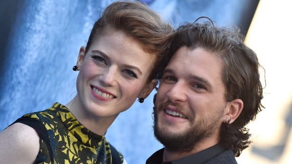 """""""Game of Thrones"""" actors Kit Harington and Rose Leslie"""