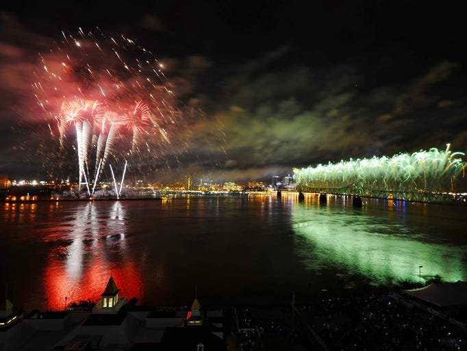 The fireworks show of Thunder Over Louisville 2015