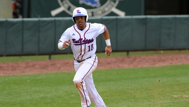 Louisiana Tech's Bre'shon Kimbell hit a grand slam and finished with six RBIs in the Bulldogs' win over Western Kentucky on Friday.