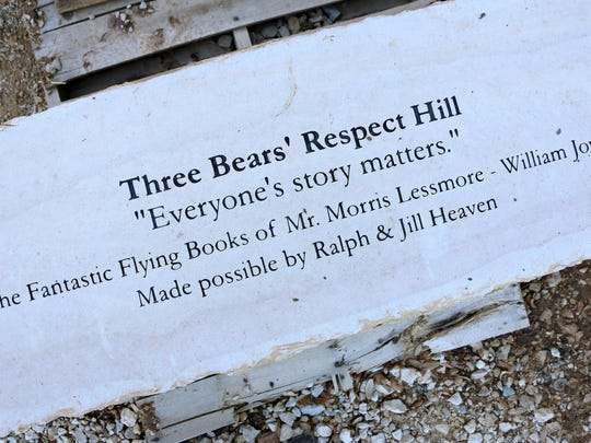 More than 30 benches are placed throughout the garden, each with a quote about life values.