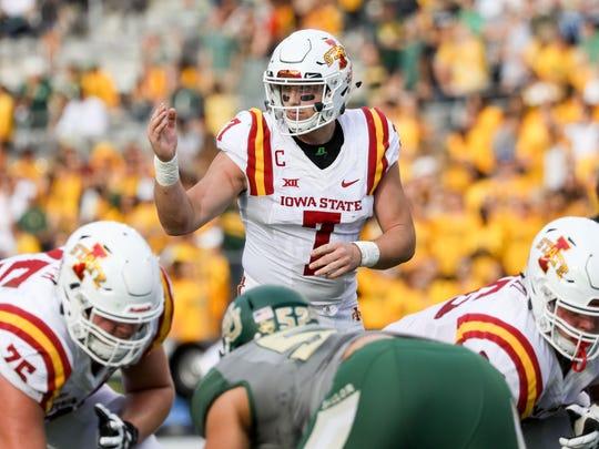 Iowa State Cyclones quarterback/linebacker Joel Lanning