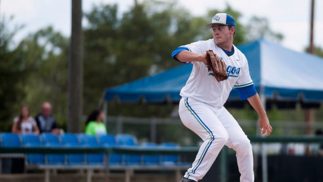 University of West Florida pitcher, Brandon Nagem, (#26) takes the mound against West Georgia during an elimination games game in the 2016 Gulf South Conference Baseball Tournament Monday. UWF lost to West Georgia 3-1.