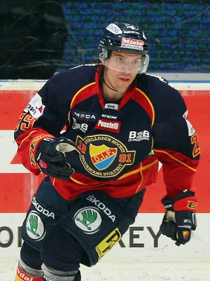 Former NHL player Matt Anderson, now 33, has spent this season in Sweden.