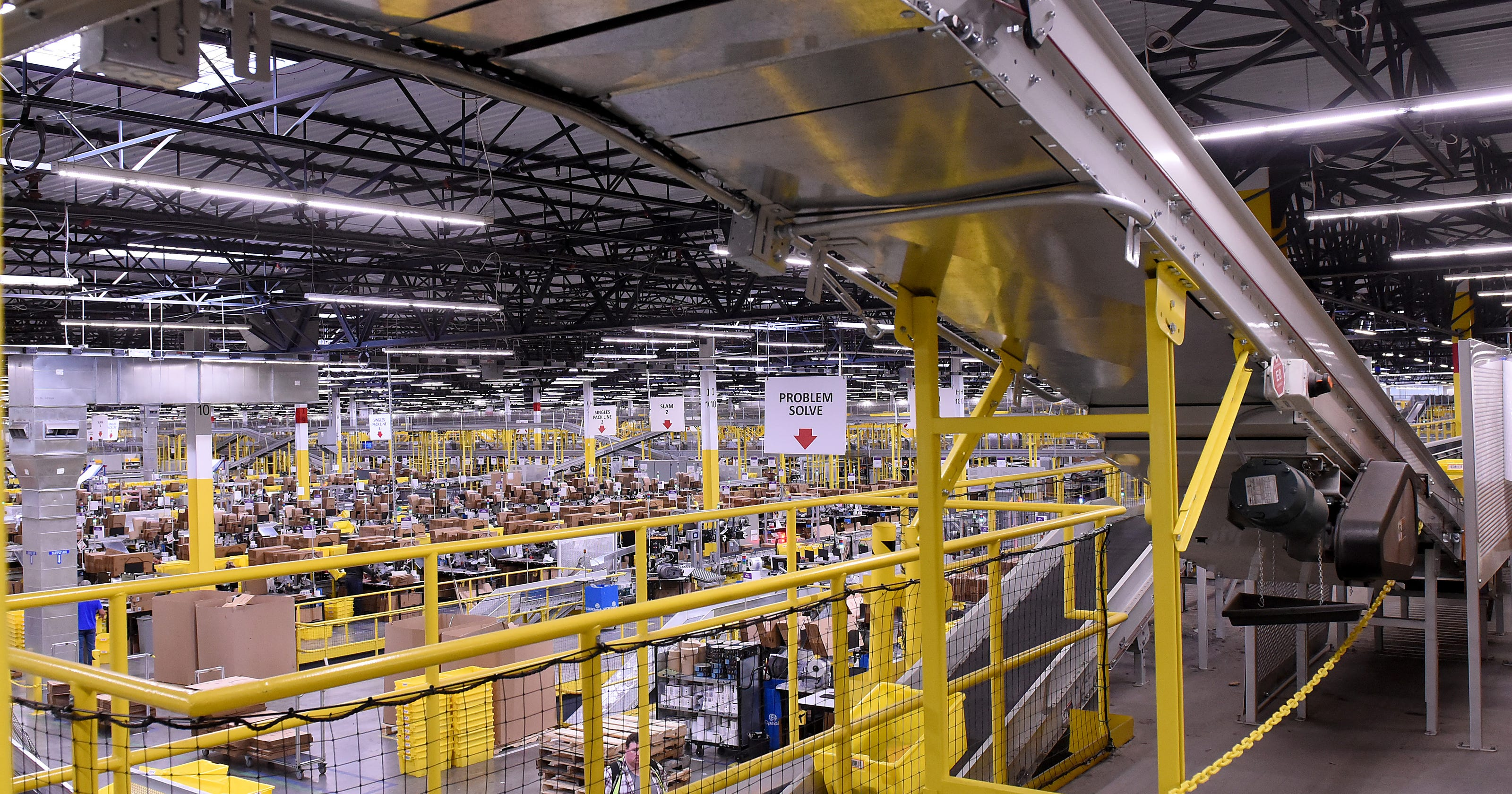 Amazon technology helps add employees at Etna distribution