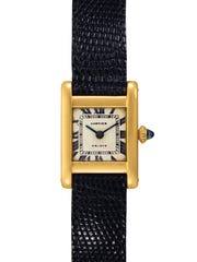 A Cartier Tank wrist watch worn by the late Jacqueline