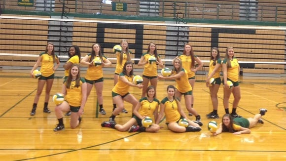 The Reynolds volleyball team