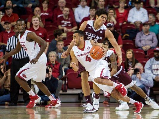 NCAA Basketball: Texas A&M at Arkansas