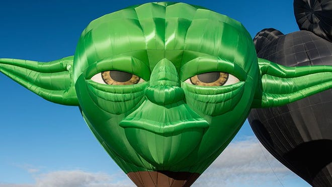 The Master Yoda balloon will make its Northern Nevada debut at the Great Reno Balloon Race in September.
