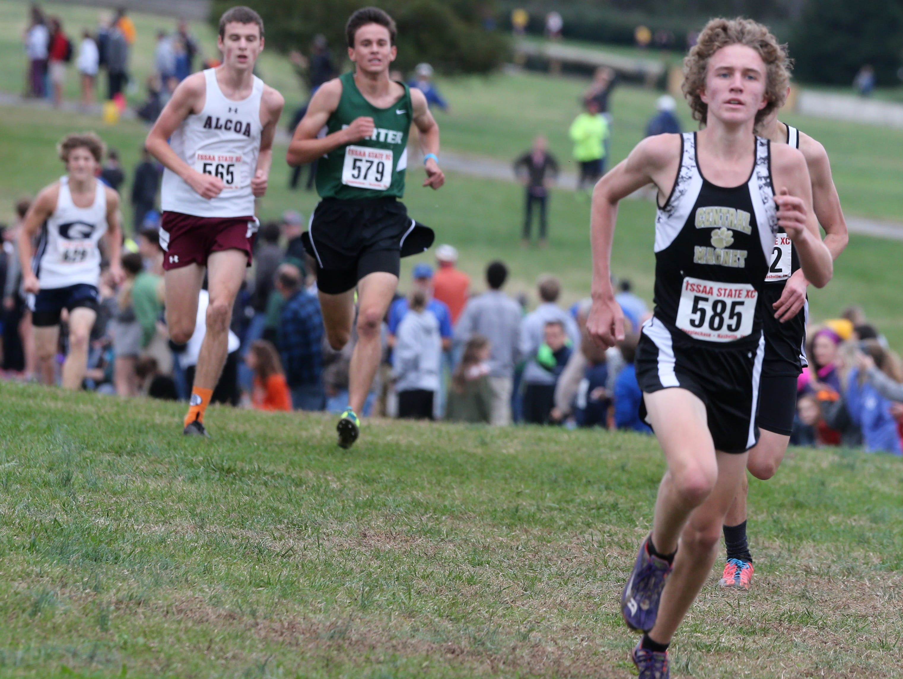 Central Magnet's Jordan Shirley placed seventh in the TSSAA Class A/AA state meet with a time of 17:03.80.