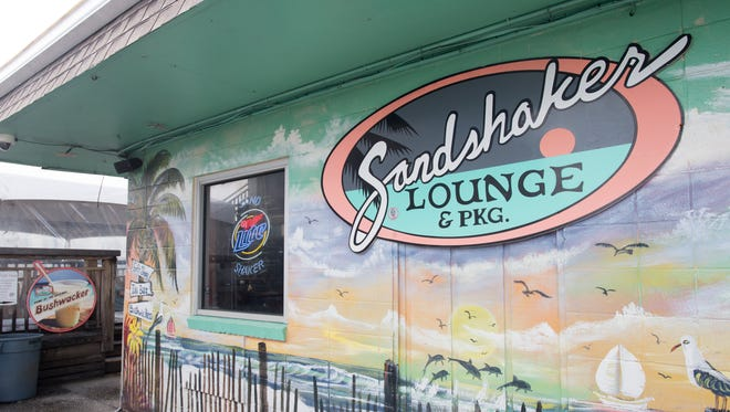 Sandshaker Lounge in Pensacola Beach on Wednesday, February 7, 2018.  The owners of the Sandshaker Lounge are suing the owners of The Shaka Bar over trademark infringement claiming the names are too similar.