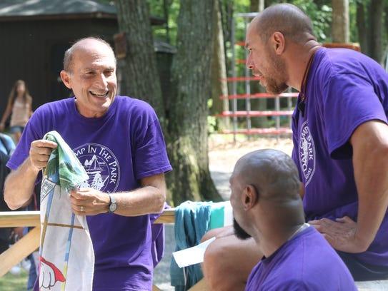 Ken Glotzer, left, camp director/owner of Day Camp