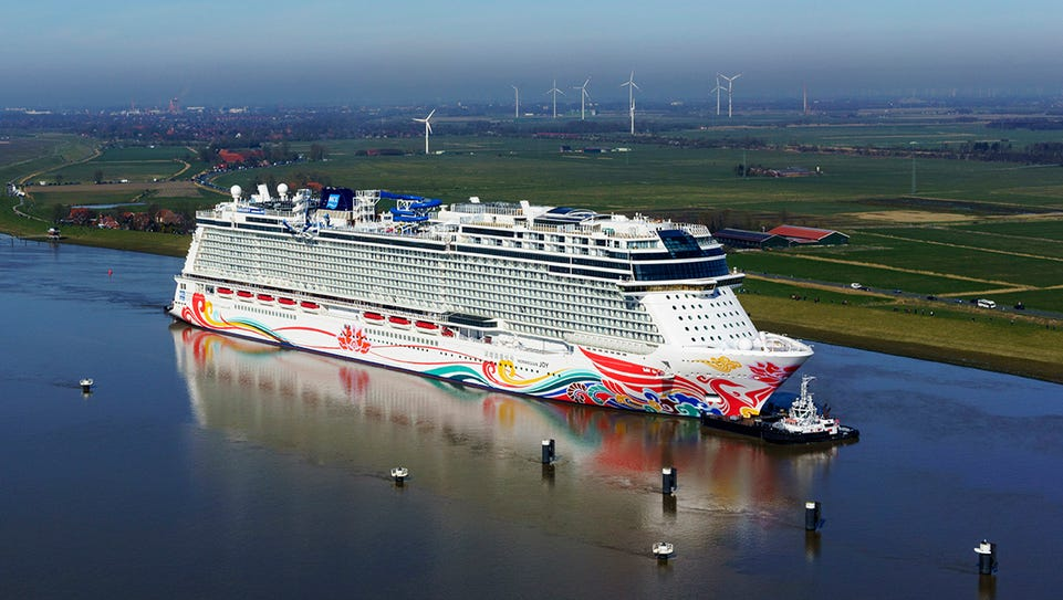 Norwegian Cruise Line on Thursday will take delivery
