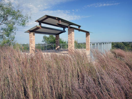 The second of two pavilions on the new Wichita Bluff