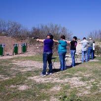 Teachers, principals and nurses take Aransas Pass PD's free Texas License To Carry class