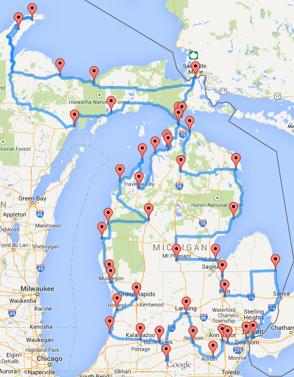Is your favorite spot on this Michigan road trip