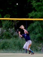 Siegel senior centerfielder Matt McCurry camps under a fly ball during a recent postseason game.